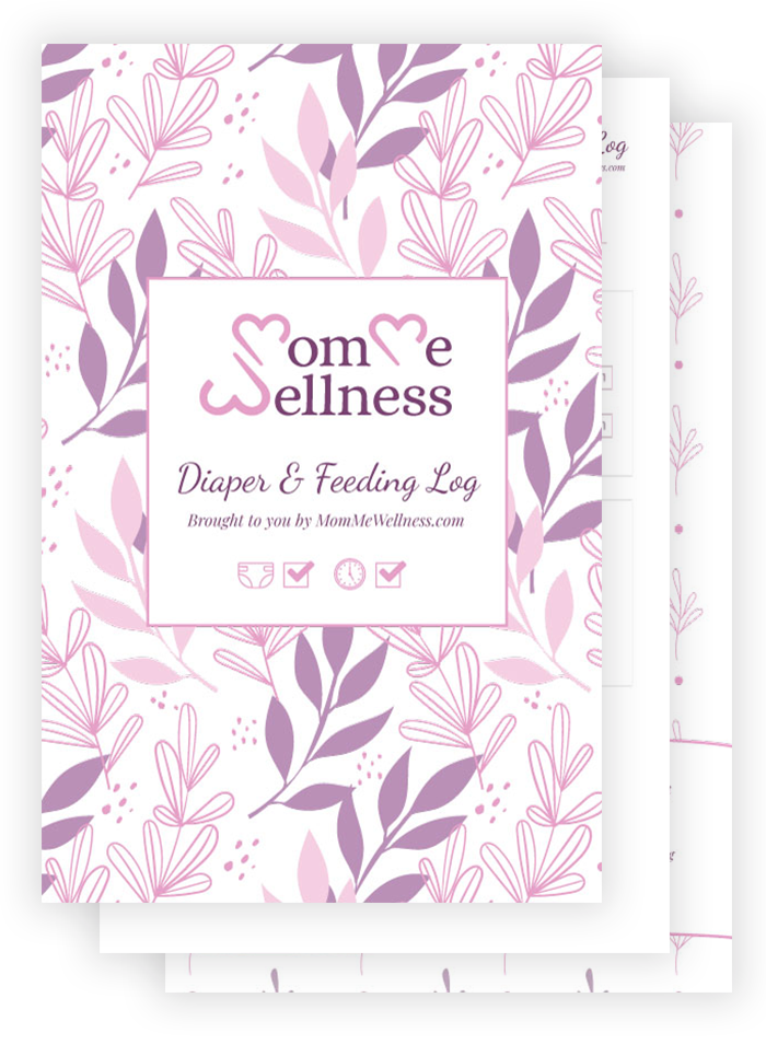 MomMe Wellness Lactation & Diaper Tracking Log Booklet